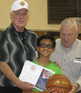 Free Throw winner Josh age 11